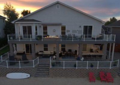 Gray Balcony Deck